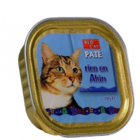 Bandeja de Paté RED CAT 100g Rico en Atún par