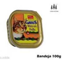 Bandeja Paté Rico en Pollo 100g Comida para Gatos