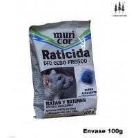 Cebo Fresco Raticida Muricor 100g Veneno contra Ratas y Ratones Super Atrayente