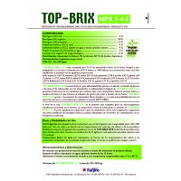 Top Brix NPK 5-4-5 Abono de Sangre (Líquido) para Uso Radicular y Foliar: IBC 1200 Kg de Farpro
