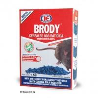 Veneno Mata Ratas en Grano Brody Cereales 003 con Brodifacoum 0,0029% 10 X 1Kg