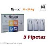 3 Pipetas Flevox 1,34Ml 10-20Kg Pipeta Pulgas Garrapatas Fipronilo Perro Pipette