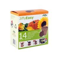Jiffypot 14 Macetas Bio + 14 Pastillas Sustra