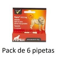 Pack 6 Pipetas Fiprex XL Spot-On Perros Gigan
