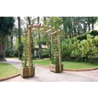 Arco Doble con Jardineras