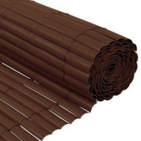 Cañizo PVC Chocolate Media Caña 1x3 M