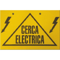 Insprovet Placa Señalización Cerca Eléctrica 17 X 11 Cm, PVC