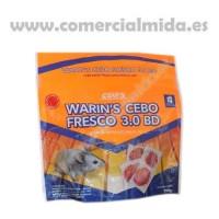 Warin'S Cebo Fresco 3.0 BD – Veneno en Pasta Fresca con Bromadiolona para Matar Ratas, Ratones y Roedores - 150 Gr.