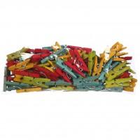 100 Mini Pinzas de Madera de Colores. Decorac