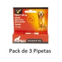 3 Pipeta Fiprex L Spot-On Perros Grandes (20-