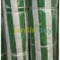 Malla Sombreo 90% 2X100 M Verde y Blanca