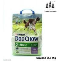 Saco de Pienso 2,5 KG Comida para Perros Adultos DOG Chow con Cordero