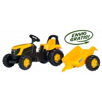 Tractor Infantil de Juguete a Pedales JCB con Remolque