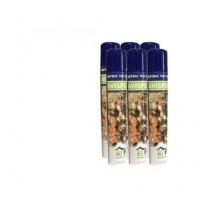 Insecticida Anti Avispas, Avisperos, Avispones y Velutina PBA Adybac 1001. Spray de Nube Exterior. Pack 6 X 750 Ml