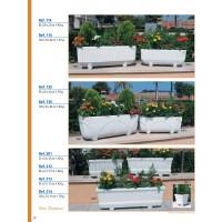 Jardinera Granito Blanco 60X21X21