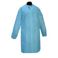 50 Batas Polipropileno SOFT Color Azul con Ci