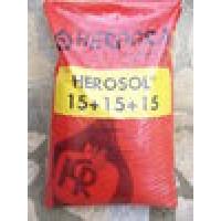 Herosol 15-15-15, Fertilizante, Granulado, 25