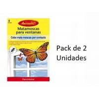 Mata Moscas para Ventanas con Forma de Mariposa Aeroxon Lote 2 Uds (8 Trampas)