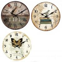 Set de 3 Relojes MDF, 34 Cm de Diámetro