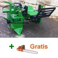 Rajadora de Leña Tractor Profesional Horizontal Cuchillas 2 - 4 - 6 Cortes 30 Ton + Motosierra Gratis