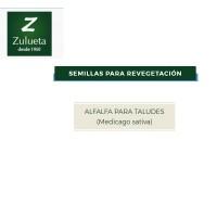 Semillas de Recuperación. Alfalfa para Taludes. Medicago Sativa de Zulueta . 25 Kilos