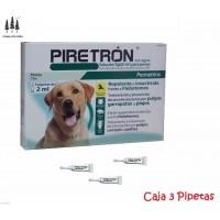 3 Pipetas Piretron (Perros+15 Kg) Pipeta Pulg