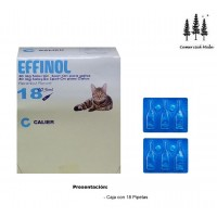 Caja 18 Pipetas Gato Effinol 0,50 Ml Anti Pulgas y Garrapatas