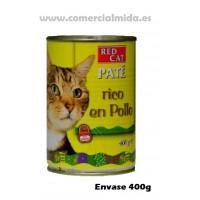 Lata Paté Rico en 400g Comida para Gatos con Pollo