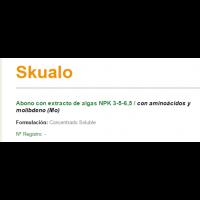 Skualo Abono con Extracto de Algas NPK 3-5-6,5  de Sipcam