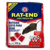 Cebo Fresco Raticida Rat-End Veneno contra Ratas y Ratones de Uso Doméstico 500 Gr