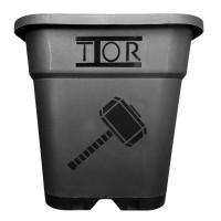 Maceta Cuadrada Negra Reforzada 31X31X32 Thor