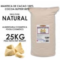 Manteca de Cacao 100% · Natural · 25kg