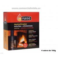 Deshollinador de Estufas y Chimeneas 4 Sobres 100g OK Fuego