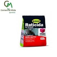 Raticida Ikebana BR Bloque 200g Veneno para Ratas y Ratones (Resistente Humedad)