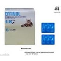 Caja 18 Pipetas Gato Effinol 0,50 Ml Anti Pulgas y Garrapatas
