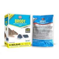 Raticida Brody Cebo Fresco Veneno Mata Ratas y Ratones de Uso Doméstico 500 Gr (5 Bolsas de 100 Gr)