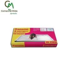 Sanson GT Trampas Adhesivas para Ratas y Ratones con Atrayente (2 Unidades)