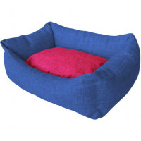 Cuna Azul Marino Rosa Mod.39 40X50Cm
