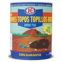 Brody T60 Cebo Fresco Elimina Ratones, Topos, Topillos y Ratas con Brodifacoum 0,0025% 150 Gr