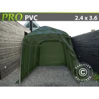 Carpa Garaje PRO 2,4X3,6X2,4 M PVC, Verde