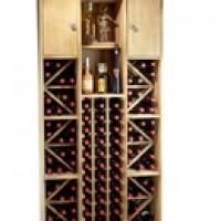 Botellero en Pino Capacidad 93 Botellas