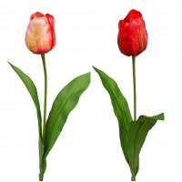Vara Tulipan Artificial. Realista de Tela. Al