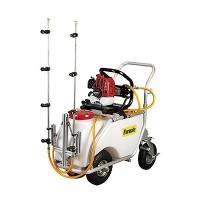 Carretilla Fumigar 50 Litros Cuatro Ruedas  Motor 2 Tiempos Gasolina Barra Herbicida  + Pistola Fumigar Opcional