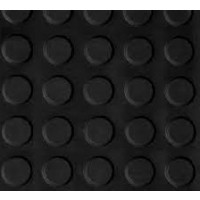 Pavimento Circulo Negro 3 MM por Rollo (1X15