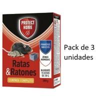 SBM Protect Home Raticida Mata Ratas y Ratones en Bloques 3 X 300 Gr
