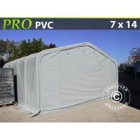 Carpa Grande de Almacén PRO 7X14X3,8M PVC, Gris