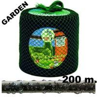 Manguera de Riego Exudante Poritex 200m por Presión (Malla Verde)