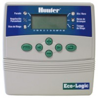 Programador de Riego Hunter Eco-Logic 4 Estaciones Interior