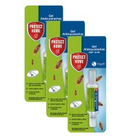 Protect Home Gel Anti Cucarachas Acción Inmediata Pack 3 X 10 Gr