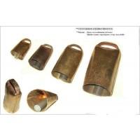 Cencerro de Hierro con Recubrimiento de Bronce 7Cm